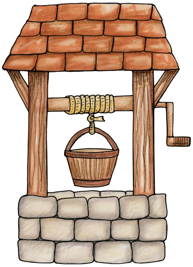 Wishing well clipart.