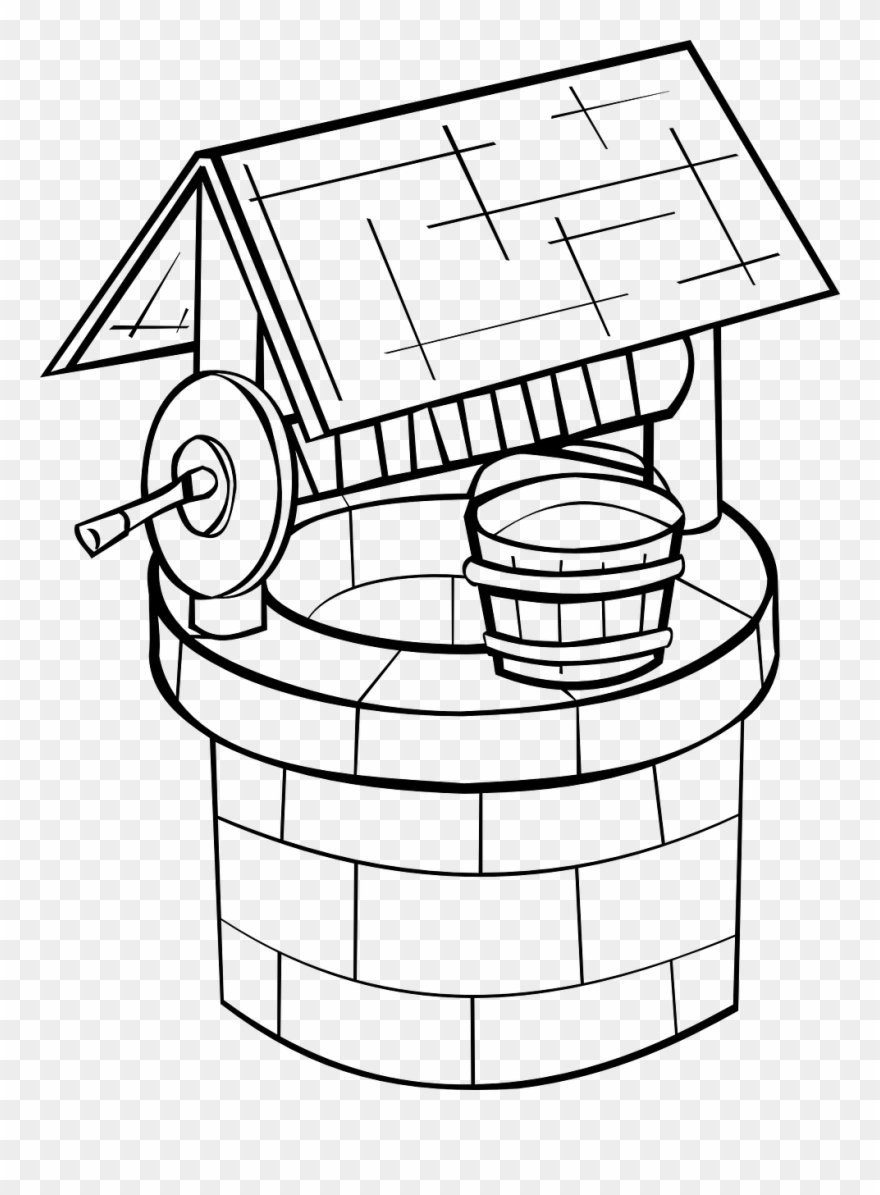 Cistern Well Water Bucket Rope Png Image.