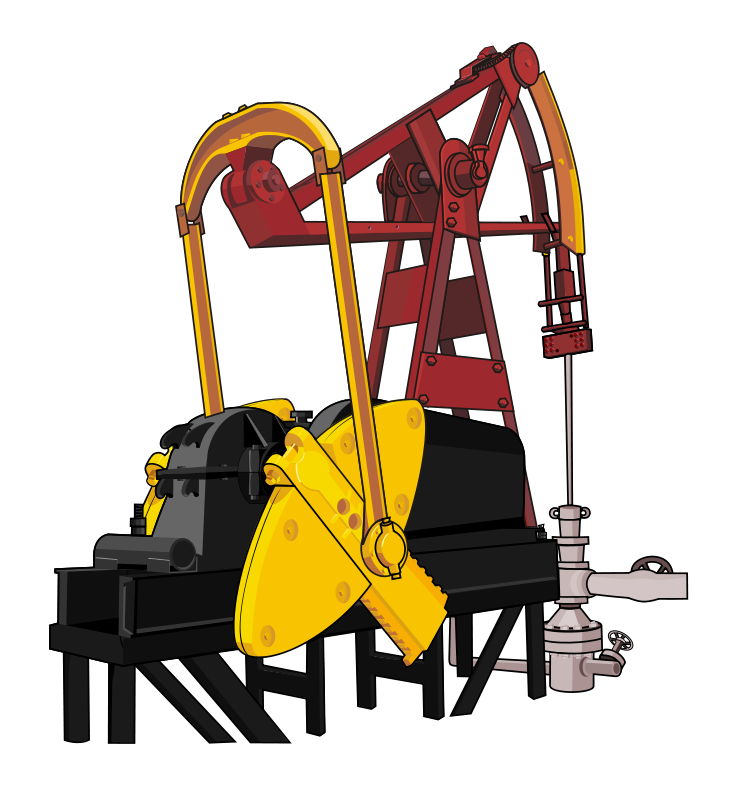 Free to Use Public Domain Oil Well Clip Art.