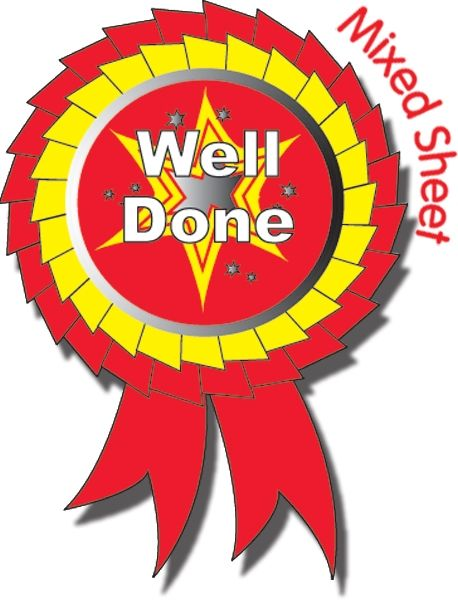 Metallic Well Done Rosette Stickers (25 Stickers.