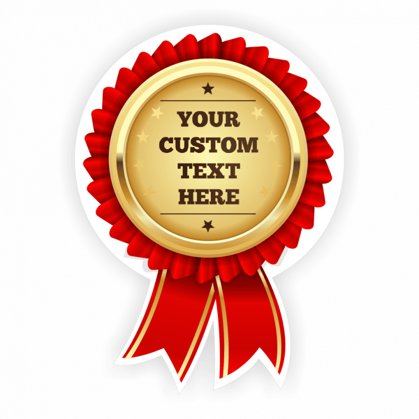 Customisable Red Gold Seal Rosette.