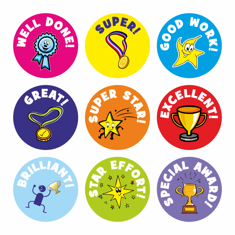 Mini Well Done Stickers.
