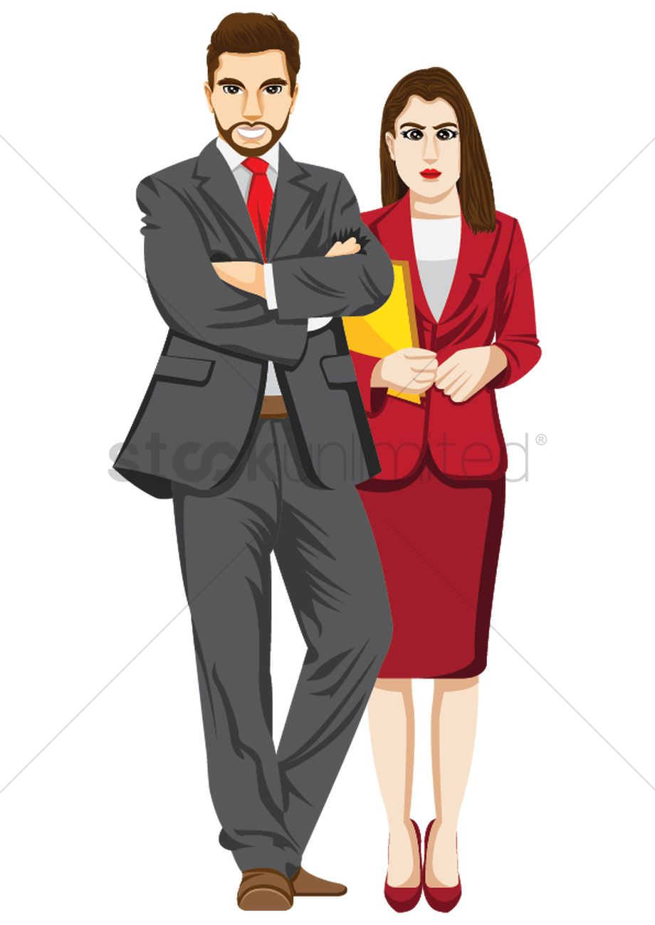 Businessman and businesswoman Vector Image.