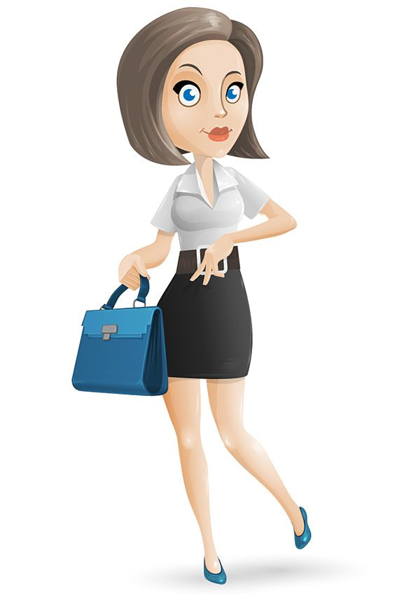 Free businesswoman vector character featuring smart and.