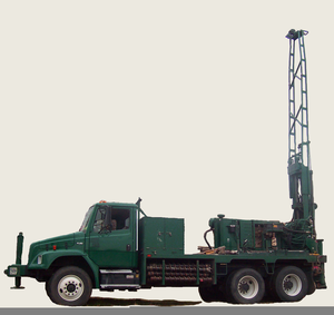 Well Drilling Truck Clipart.