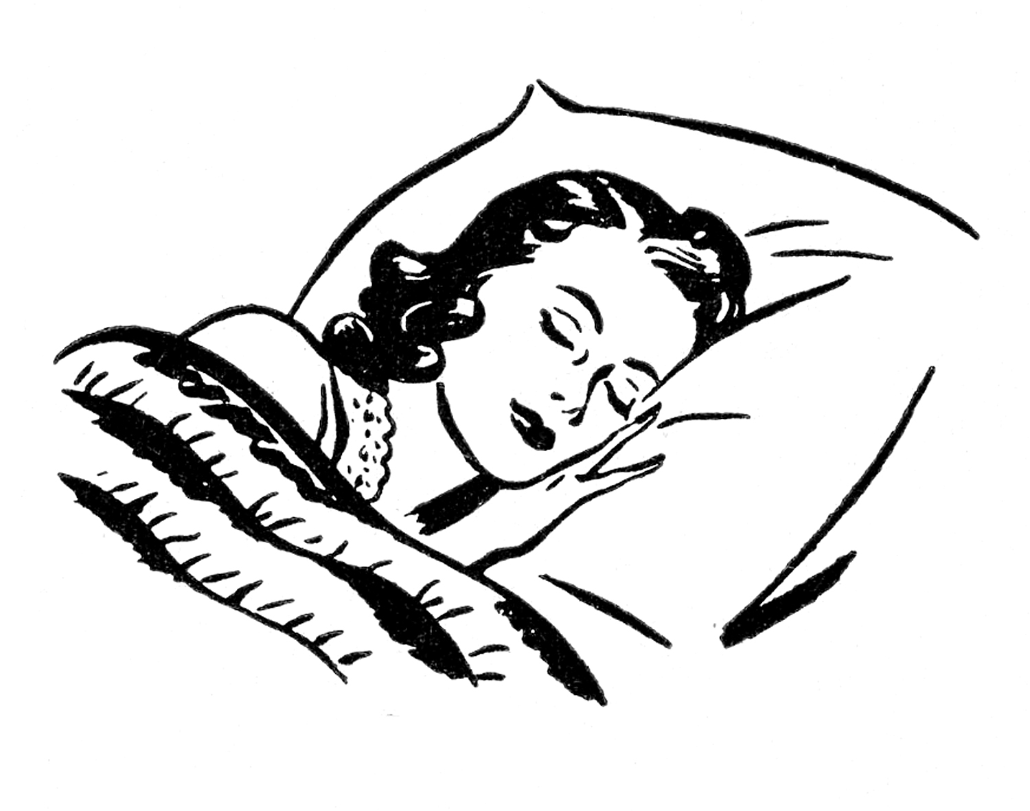 Sleeping clipart well rested, Sleeping well rested.