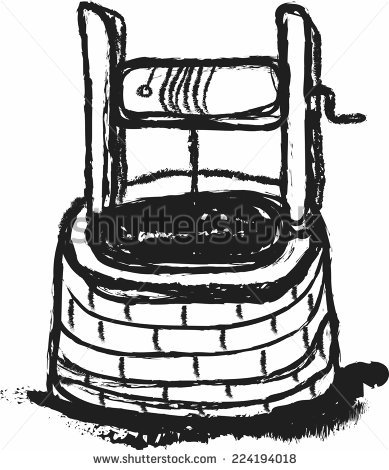 Old Wooden Well Water Old Water Stock Photo 49816372.