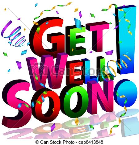 Clip art get well wishes.