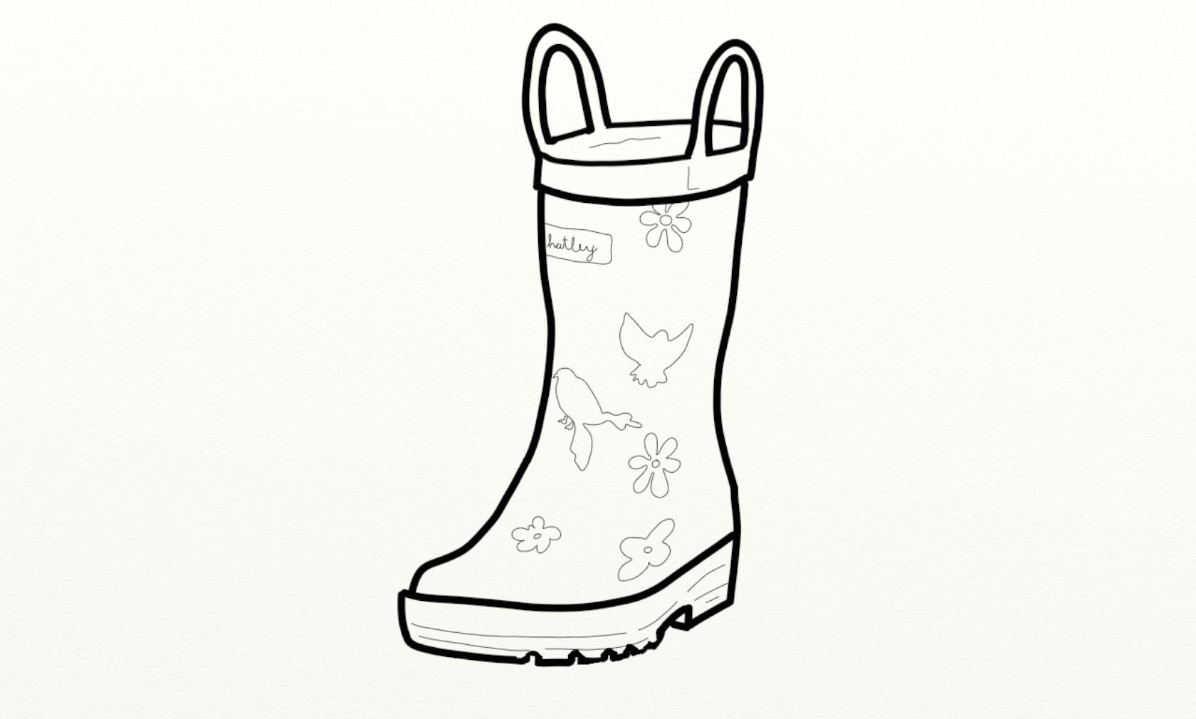 Rain boots the boot kidz girl\'wellington boots girl\'wellies.
