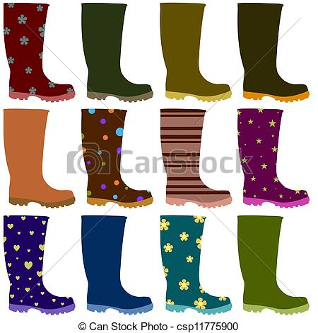 Wellies Illustrations and Clipart. 275 Wellies royalty free.