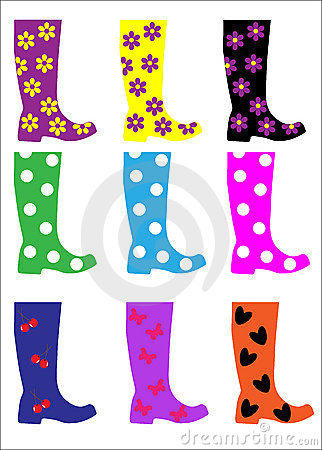 Wellies Stock Illustrations.