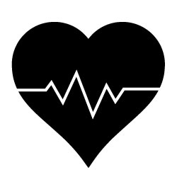 Health and wellness clipart black and white.