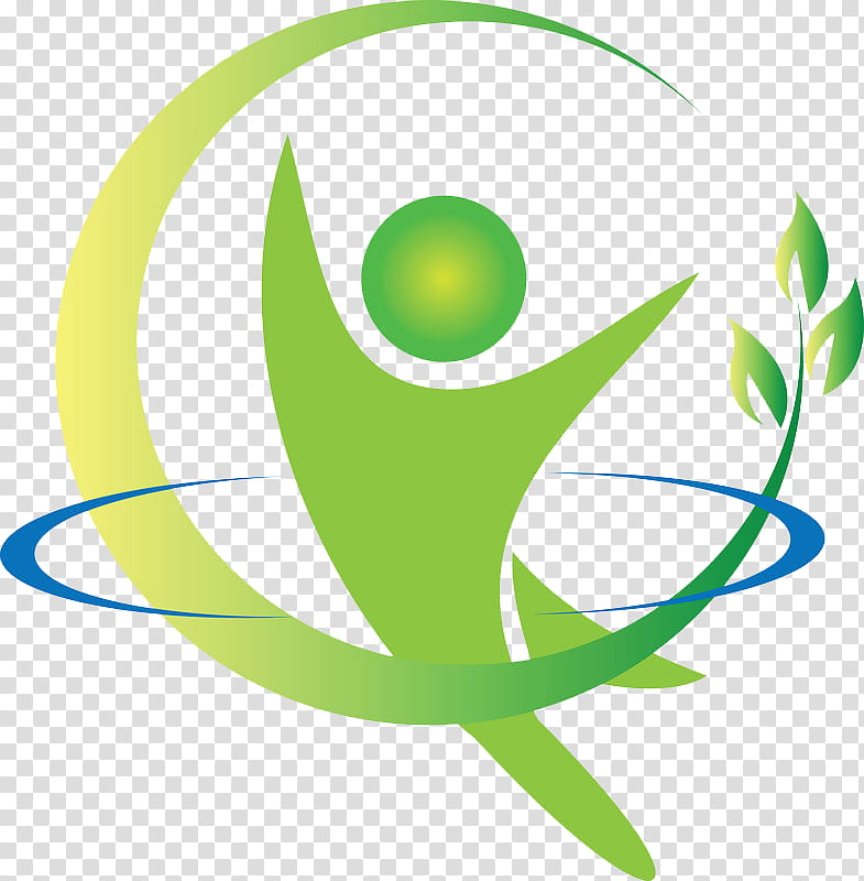 Green Leaf Logo, Health Fitness And Wellness, Physical.