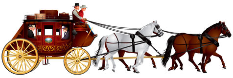 Stagecoach Clipart.