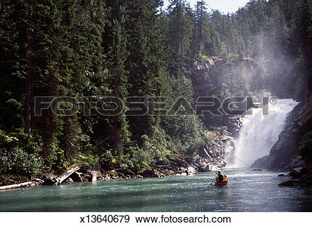 Stock Photograph of Canada, BC, Wells Gray Provincial Park, Azure.