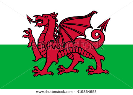 Welsh Dragon Stock Images, Royalty.