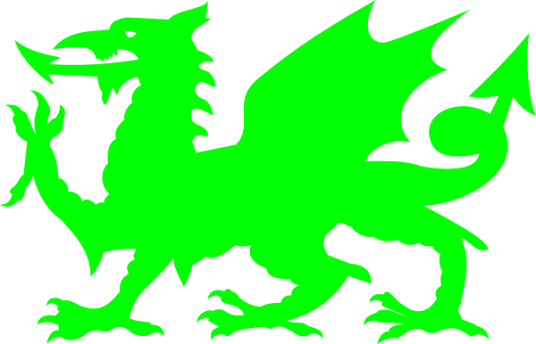 Lime Welsh Dragon Clip Art at Clker.com.