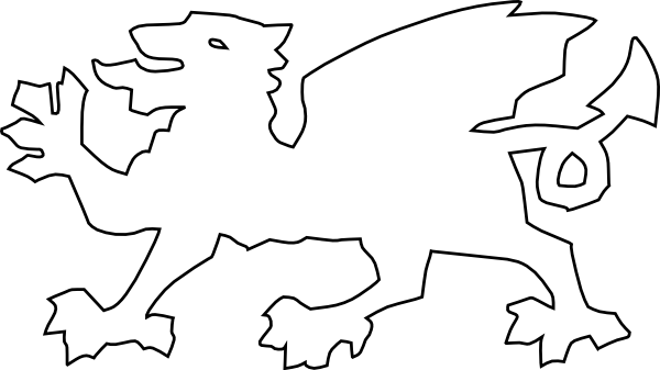 Welsh Dragon clip art Free Vector / 4Vector.
