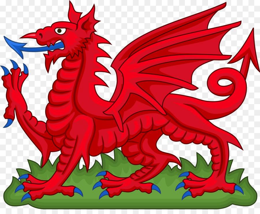 Flag of Wales King Arthur Welsh Dragon National symbols of.