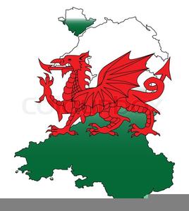 Welsh Dragon Flag Clipart.