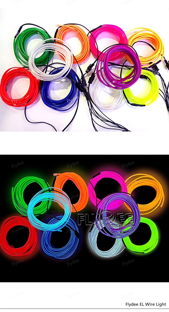 Wholesale Smart El Electroluminescent Neon Welted Wire Roll With.