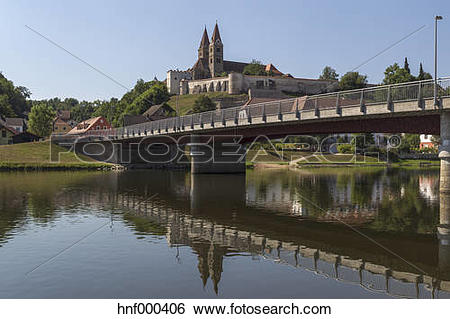 Stock Images of Germany, Bavaria, View of Reichenbach abbey and.