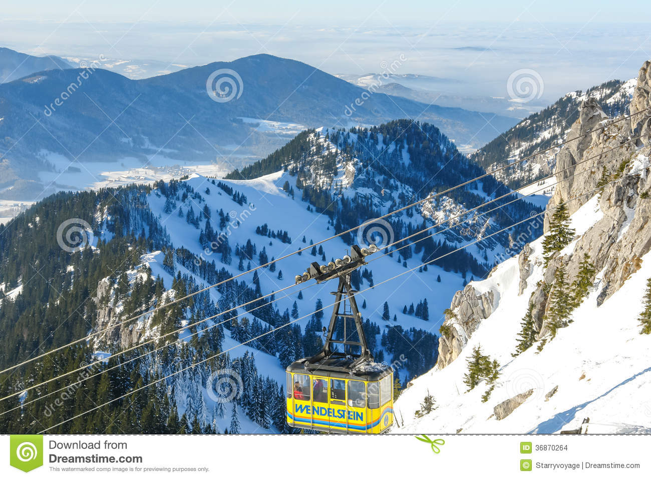 Wendelstein Cable Car Editorial Stock Image.