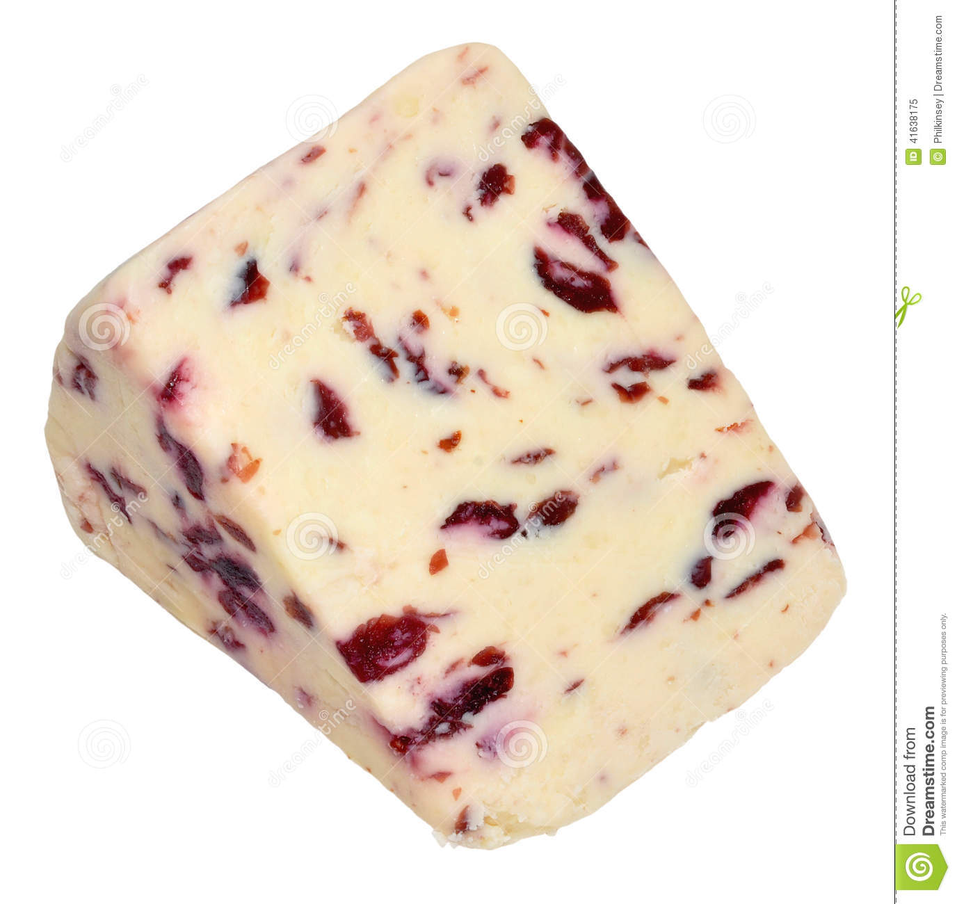 Wensleydale And Cranberry Cheese Stock Photos.