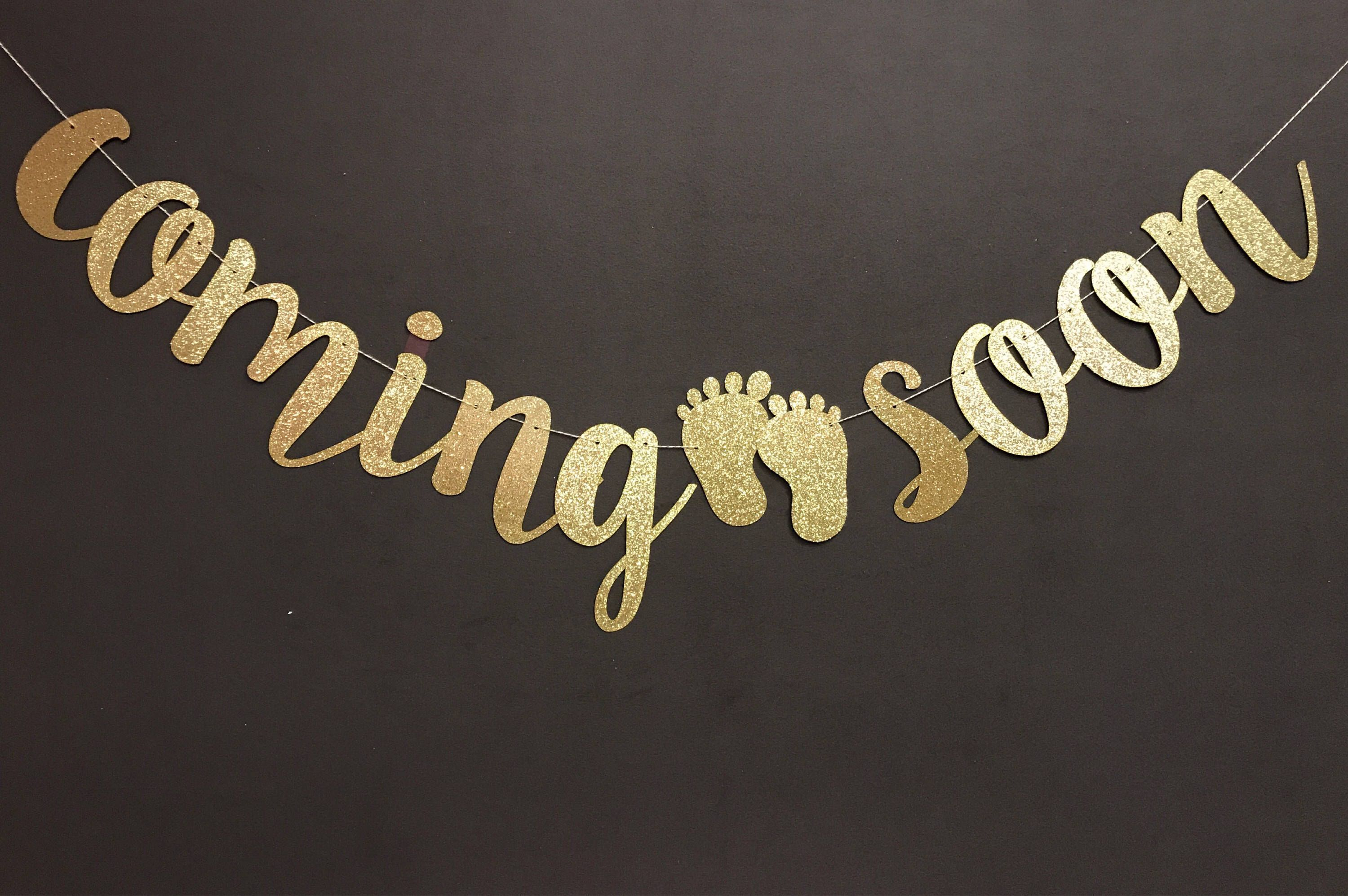 Coming soon Baby Shower Banner, Baby shower decorations.