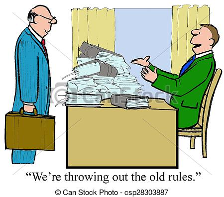 Stock Illustration of Old Rules.