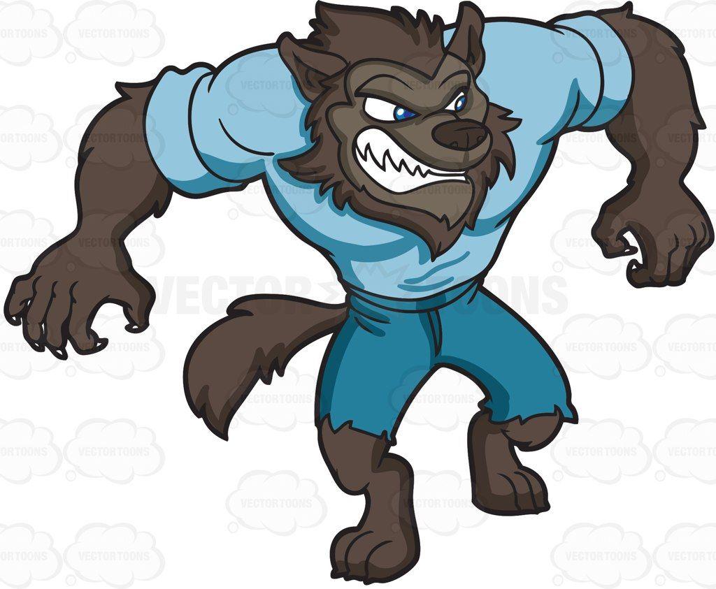 A sleek werewolf #cartoon #clipart #vector #vectortoons #stockimage.