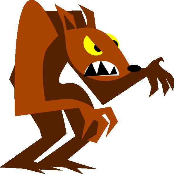 Halloween Werewolf Clipart.
