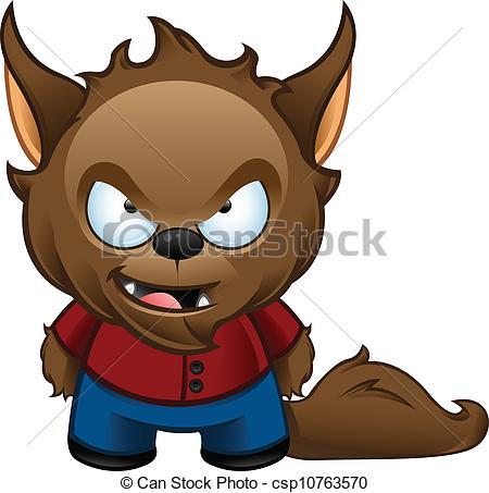 Cute werewolf clipart.