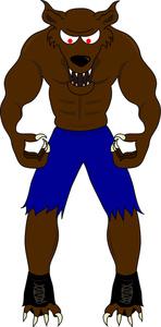 Werewolf for kids clipart.