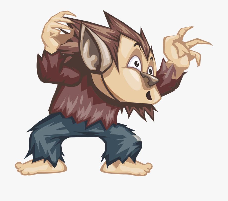 Halloween Werewolf Clip Art.