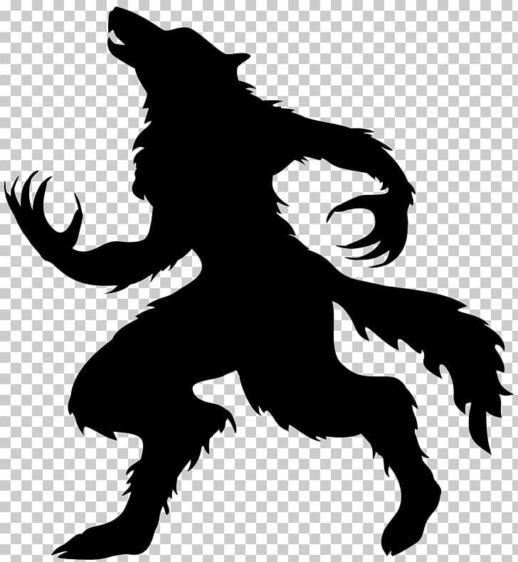 Werewolf Halloween Full moon Gray wolf, Halloween Werewolf.