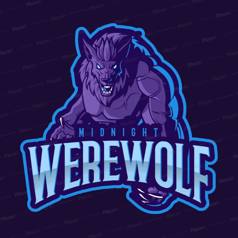 Gaming Logo Maker with a World of Warcraft Inspired Werewolf Illustration  2613j.