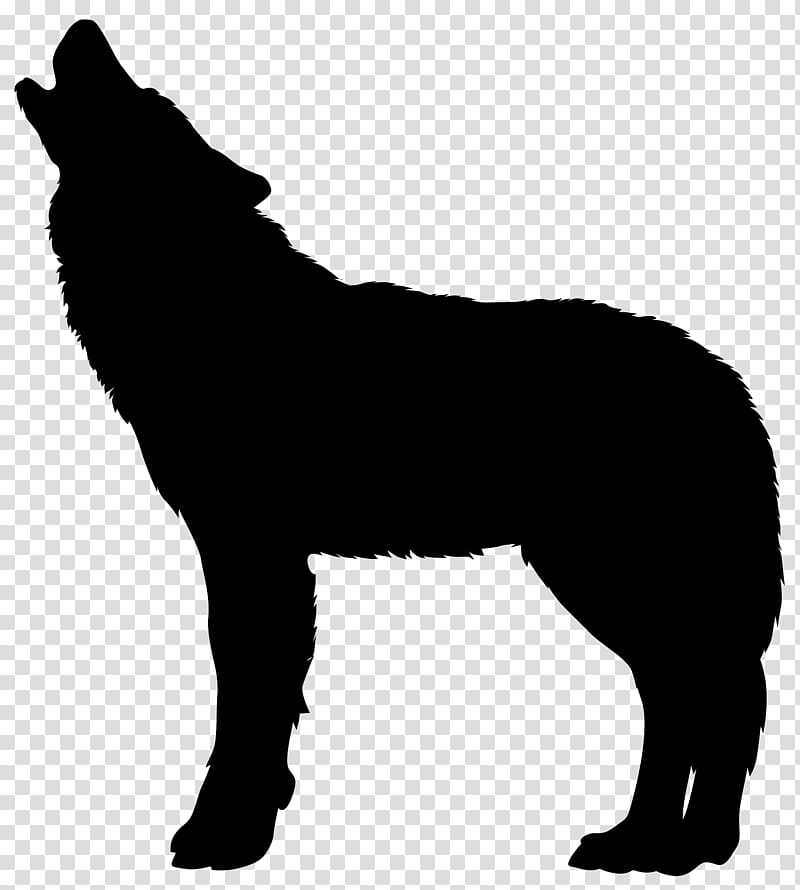 Silhouette Drawing , werewolf transparent background PNG.