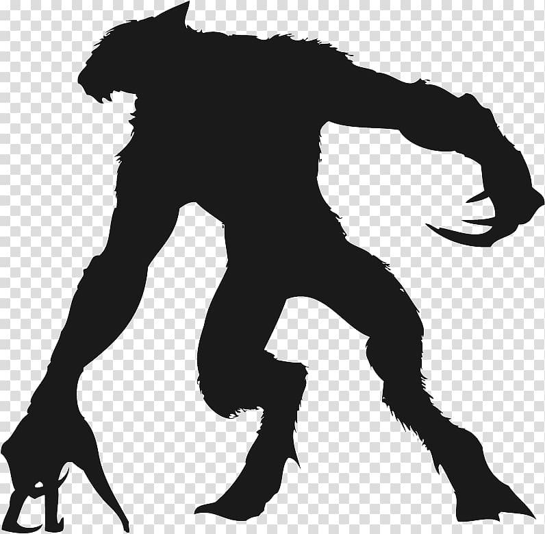 Werewolf transparent background PNG clipart.