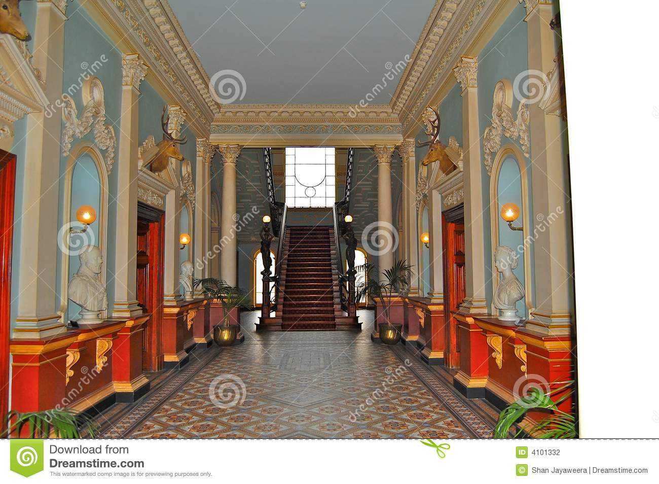 Inside Werribee Mansion Stock Photography.