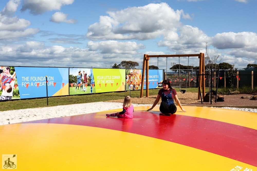 cornerstone's FREE jumping pillow, werribee parks & playgrounds.
