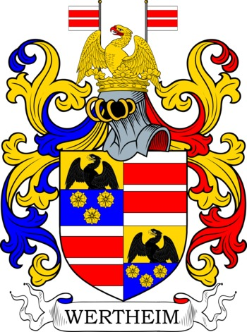 Wertheim Coat of Arms Meanings and Family Crest Artwork.