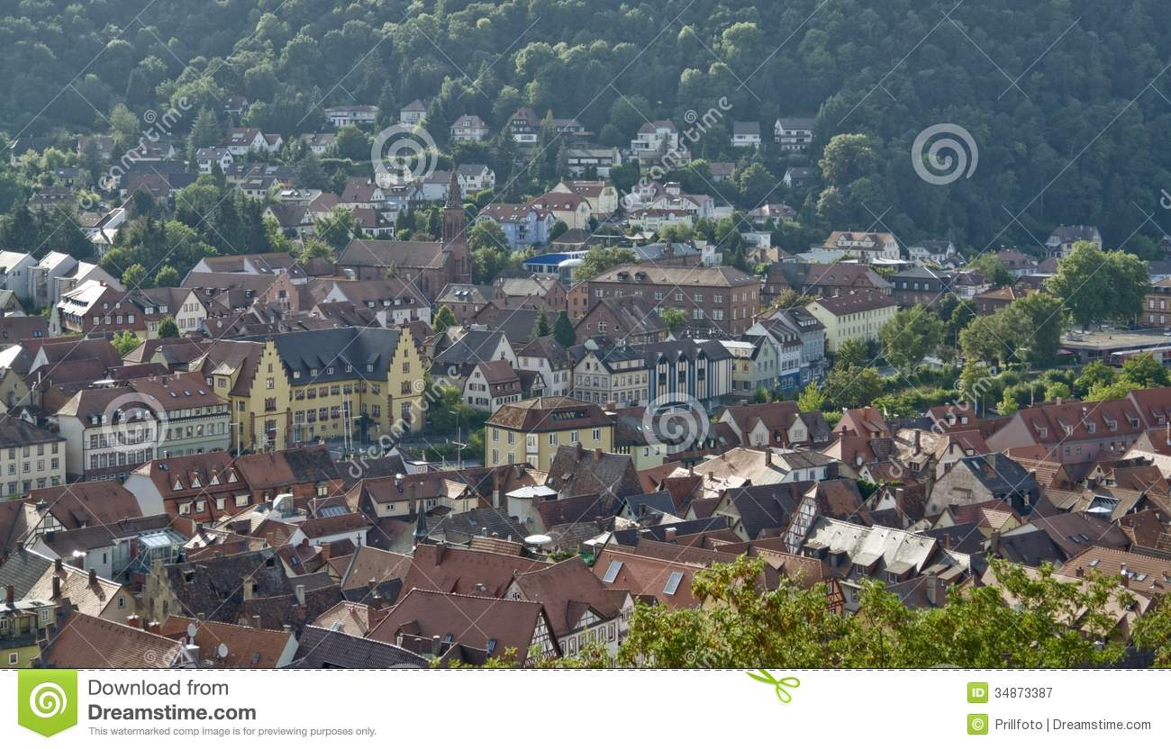 Wertheim Am Main Aerial View Royalty Free Stock Photography.