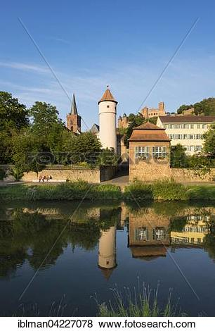 Pictures of River Tauber, Kittsteintor, Red Tower, Town church and.