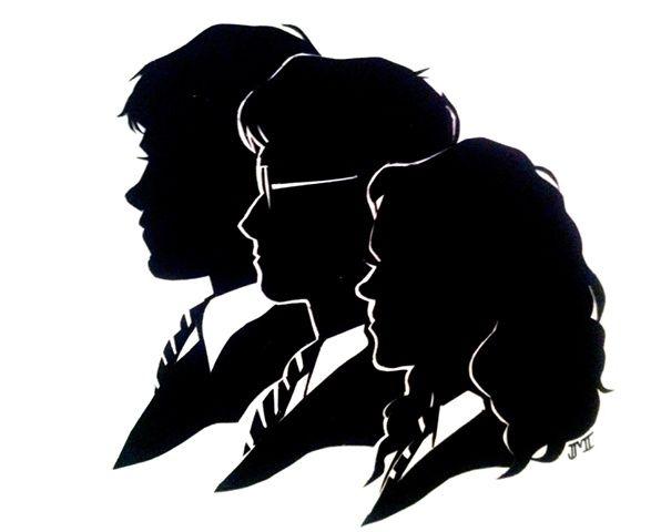hogwarts silhouette clipart.