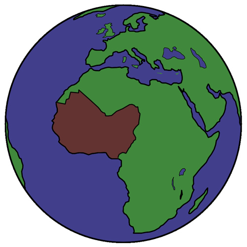 west africa earth.