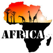 West africa map clipart.