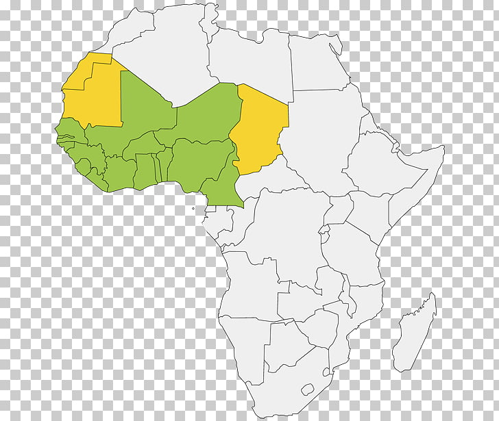 West Africa Blank map Central Africa North Africa, West.