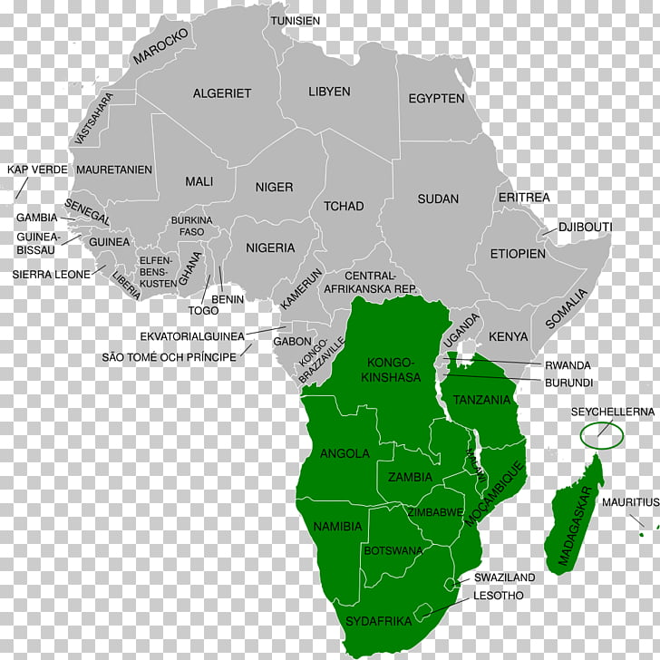 South Africa West Africa World map Blank map, map PNG.