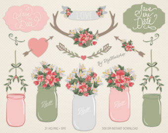 Wedding clipart pack: